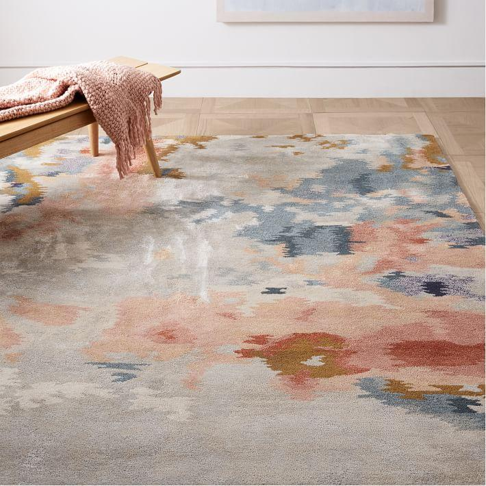 Abstract Mural Collection Static Rug