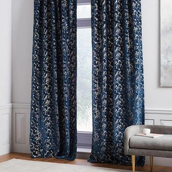 Slate Blue Velvet Curtain World Market