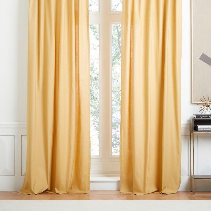 Horseradish Cotton Canvas Window Curtain