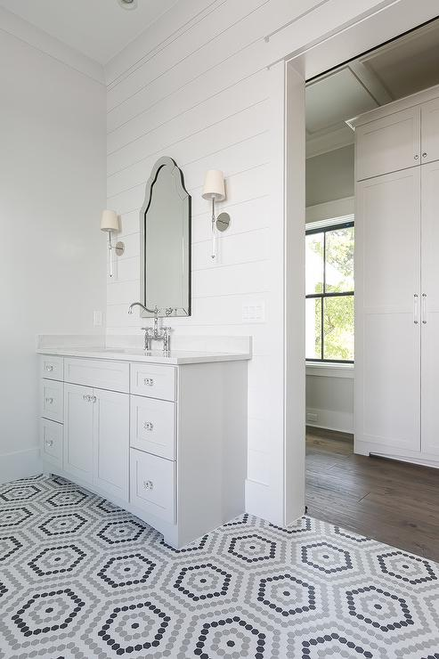 Widespread Bathroom Faucet >> Arch Frameless Mirror - Traditional - bathroom - Kerrisdale Design