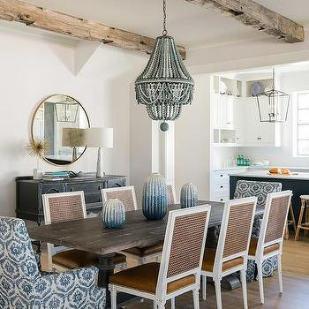 Blue bead chandelier design ideas cane back and leather dining chairs aloadofball Images