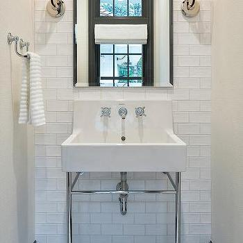 White And Gray Bath Floor Tiles