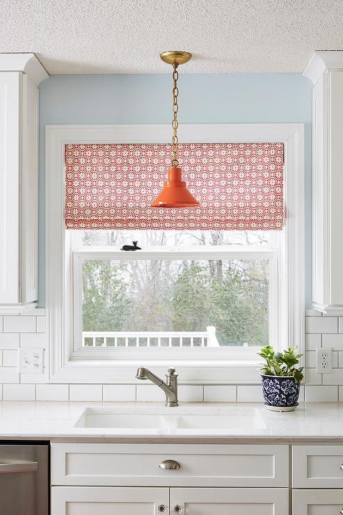 Vintage Orange Light Over Sink - Transitional - Kitchen