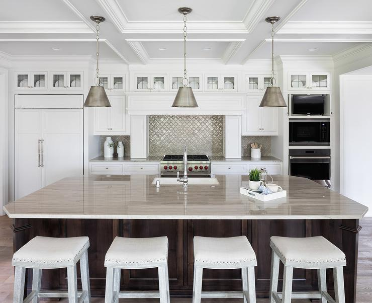 Pleasing Light Gray Backless Stools At Espresso Stained Island Beatyapartments Chair Design Images Beatyapartmentscom