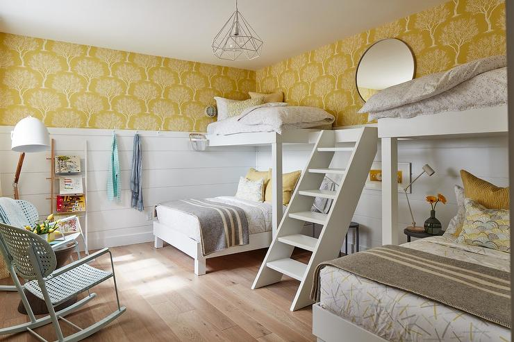 Yellow And Gray Accent Colors In Kids Room Transitional Boy S Room