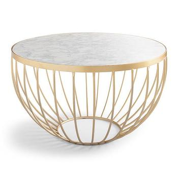 Soleil Marble Top Cocktail Table Look For Less