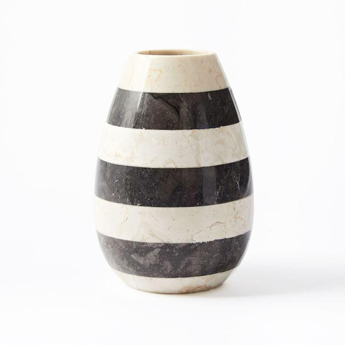 Raya Black And White Stripe Vase