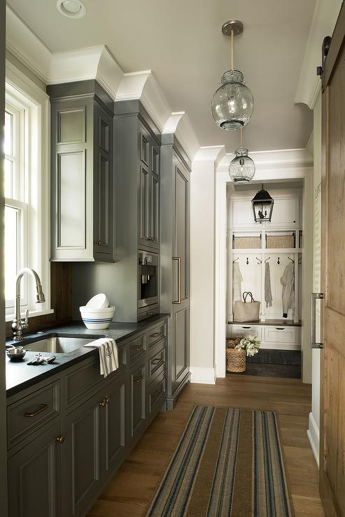 Gray Kitchen Cabinets Contemporary Kitchen Munger