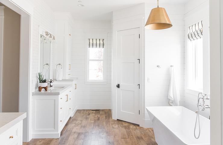 4 Panel Water Closet Door Transitional Bathroom
