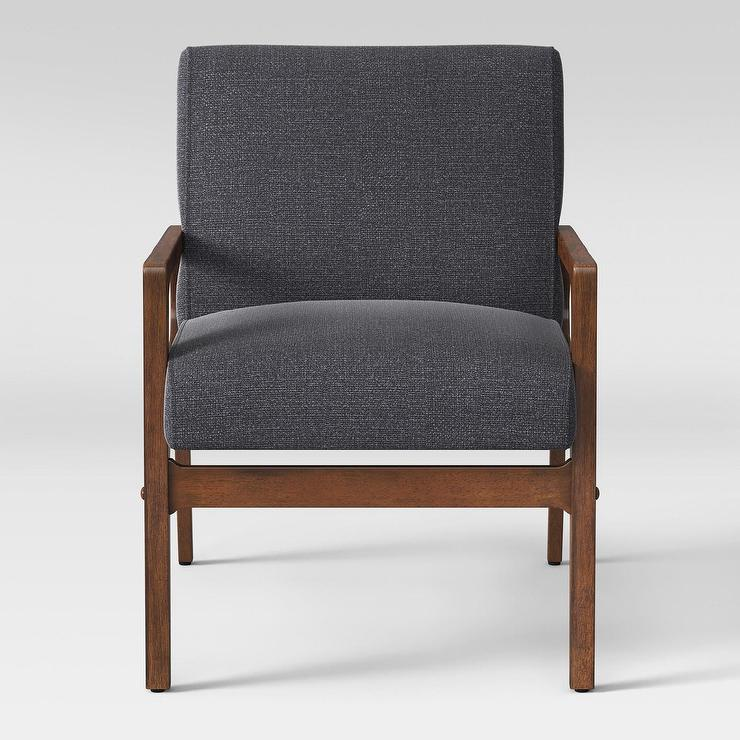 Awesome Project 62 Peoria Gray Linen Wood Arm Chair Evergreenethics Interior Chair Design Evergreenethicsorg