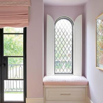 Girls Bedroom Arch Bi Fold Window Door Covers Design Ideas