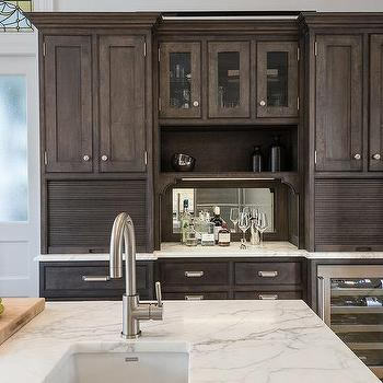 chocolate brown kitchen cabinets built in bread drawers transitional kitchen bakes 13568