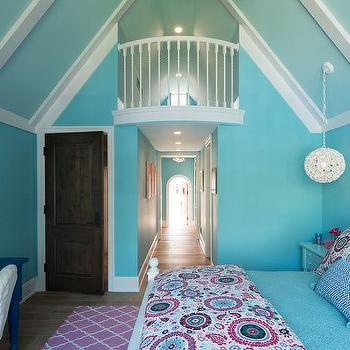Blue Girl Bedroom Desk Design Ideas