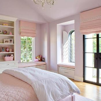 Pink Girls Room With Pink Arabesque Bedding