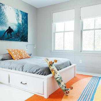 Kids White Drawer Storage Bed