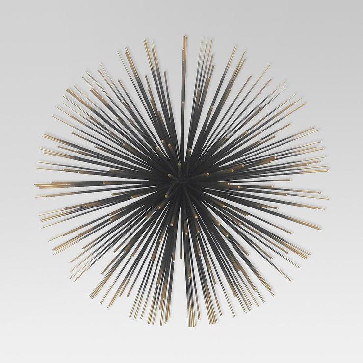 sea urchin decor.htm project 62 sea urchin black gold wall sculpture  sea urchin black gold wall sculpture