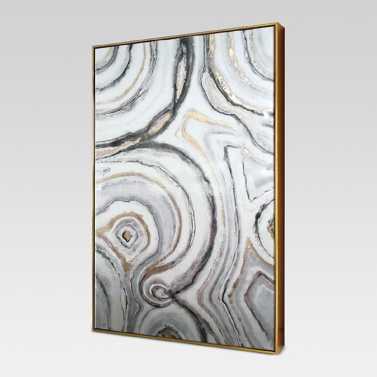 Project 62 Geode Rock Framed Glossy Wall Art
