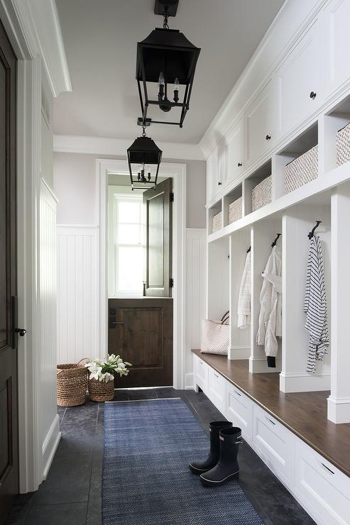 Mudroom With Dutch Door Traditional Laundry Room