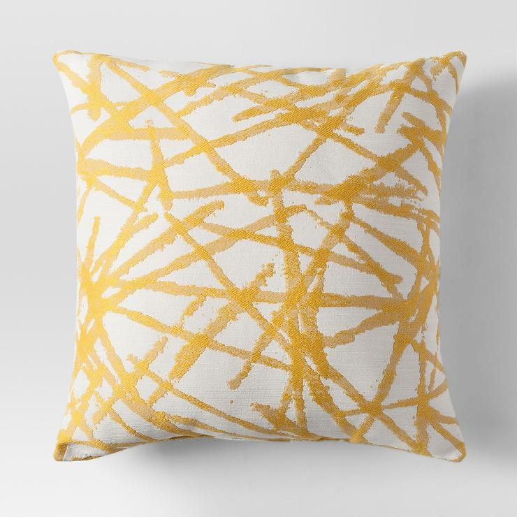 Project 62 Polyester Yellow Quilted Lumbar Pillow