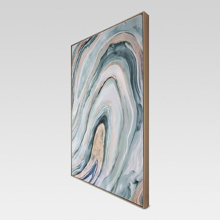 beautiful framed agate slice wall decor agate slice geode.htm blush blue agate framed high gloss canvas  blush blue agate framed high gloss canvas