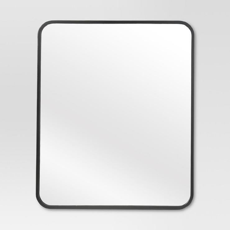 Project 62 Black Metal Framed Wall Mirror