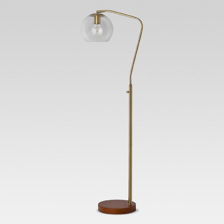 62f32a9d6e52 Madrot Glass Globe Brass Floor Lamp