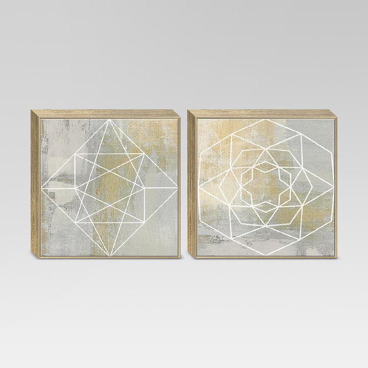 Pastel Geometric Framed 2 Pack Wall Art