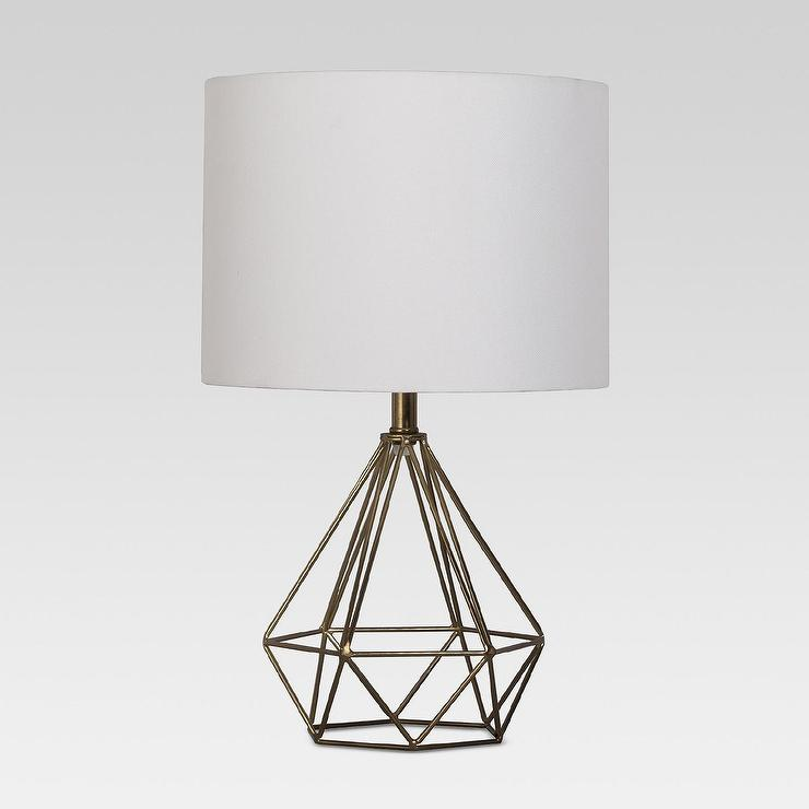 Prism brass wire table lamp entenza prism brass wire table lamp greentooth Gallery