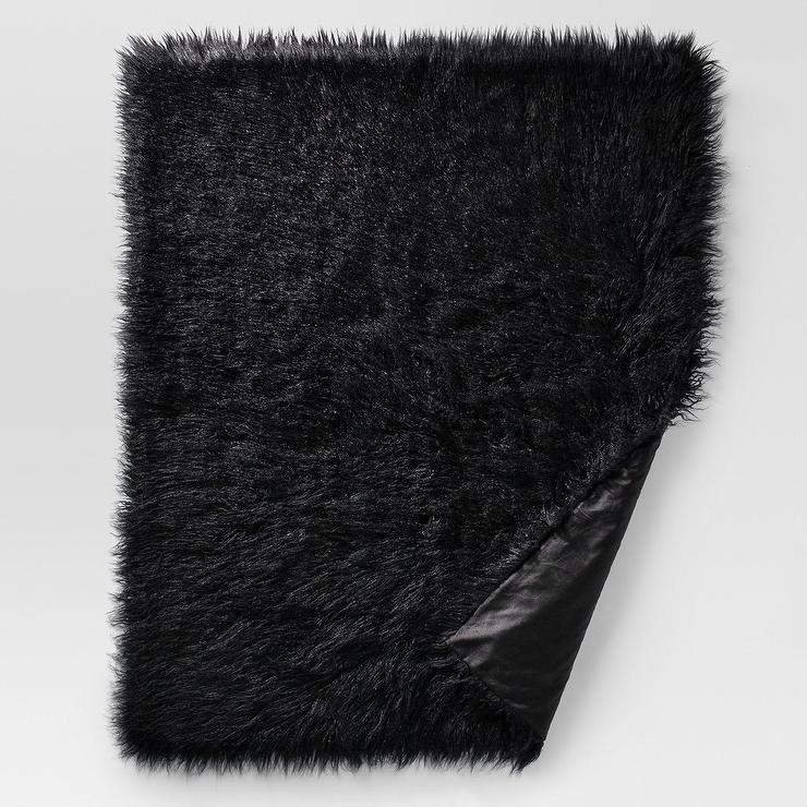 Light Gray Chevron Faux Fur Throw Blanket