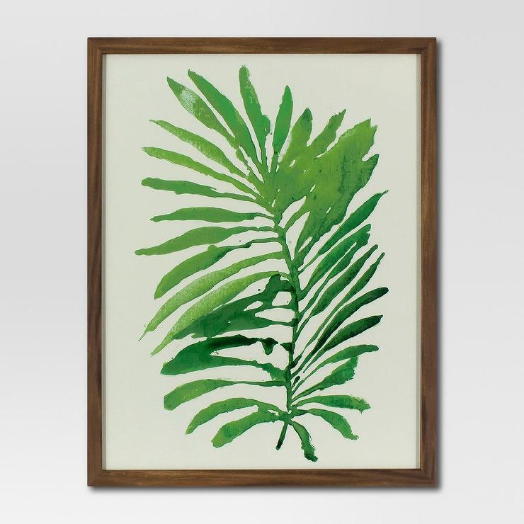 62 Green Watercolor Palm Leaf Wall Art