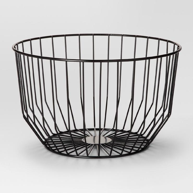 Project 62 Black Small Round Wire Basket