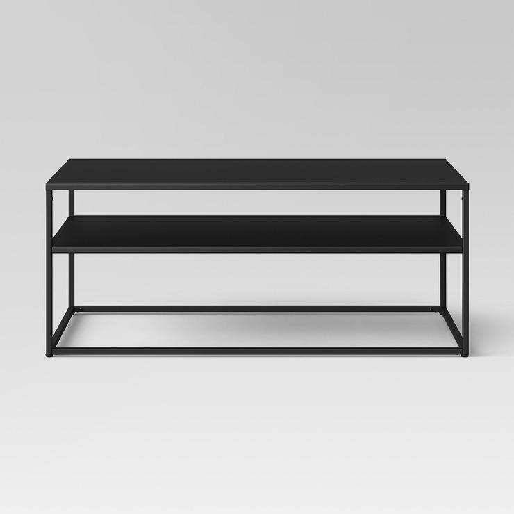 Deon Industrial Style Pattern Metal Rectangle Coffee Table: Harley Coffee Table