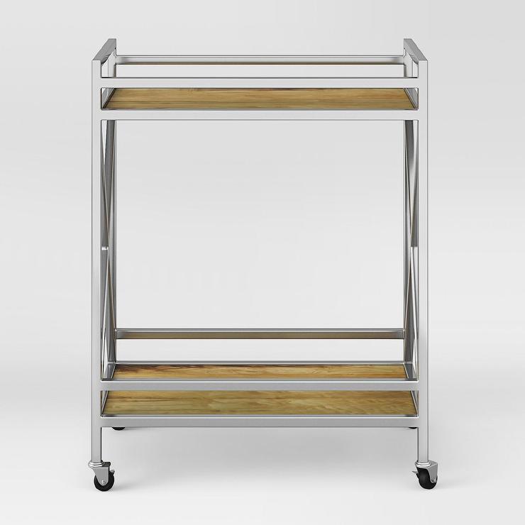 Bryant Mobile Kitchen Cart: Room Essentials Black Metal Microwave Cart
