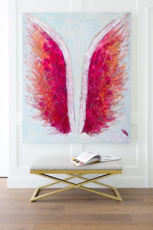 Nursery Gold Angel Wings Design Ideas