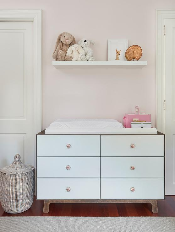 Tremendous Two Tone Nursery Dresser And Changing Table Transitional Interior Design Ideas Apansoteloinfo