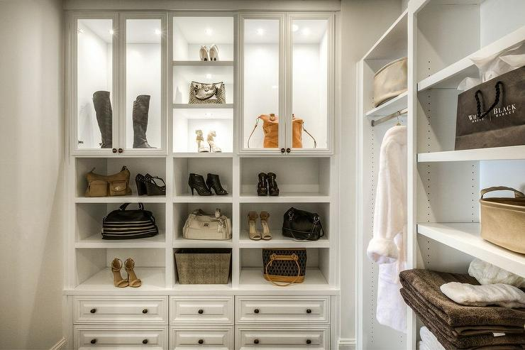 Lighted Glass Closet Display Shelves