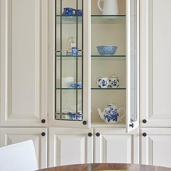 Leaded Glass China Cabinet With Shelves