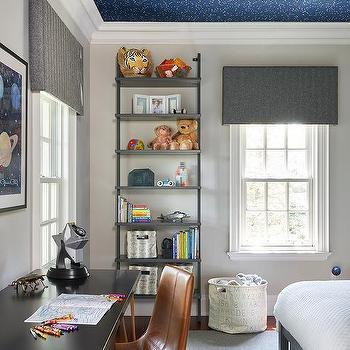Constellation Wallpaper On Kid Room Ceiling