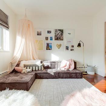 Teen Bedroom Pink Sheet Canopy Design Ideas