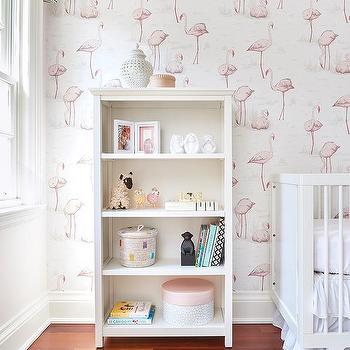 Pink Flamingo Nursery Wallpaper Design Ideas