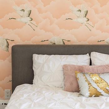 Gray Upholstered Kid Bedroom Design Ideas