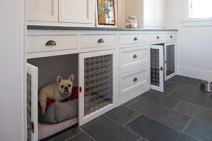 Built In Dog Crate Design Ideas