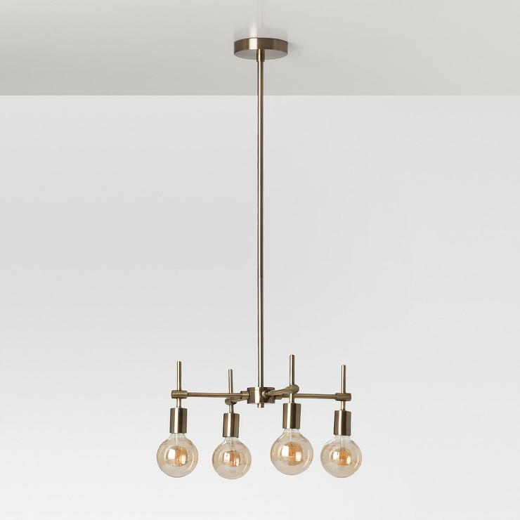 Madrot multi globe glass brass ceiling light