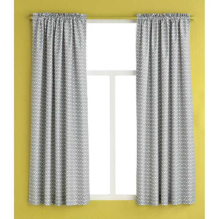Room Essentials Gray White Chevron Curtain Panel