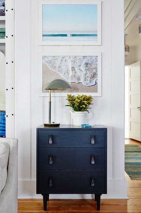 Black Hardware on Black Dresser - Cottage - Living Room