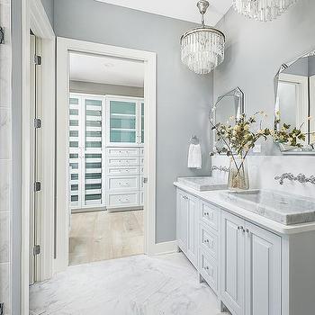 bathroom chandeliers ideas. Glass Fringe Chandeliers Over Sinks Bathroom Design Ideas