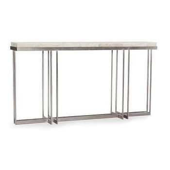 metal console table. georgina onyx top metal console table