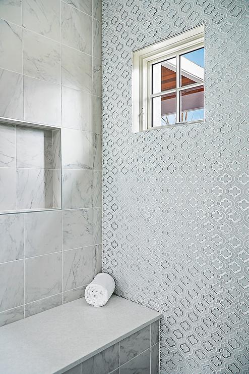 Quatrefoil Tile Transitional Bathroom Tracery Interiors
