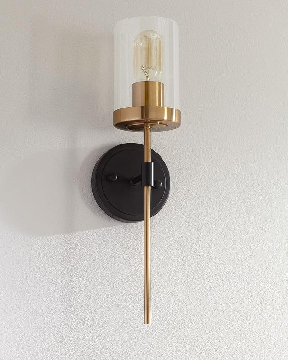 & North Haven 1 Light Brass Torch Wall Sconce