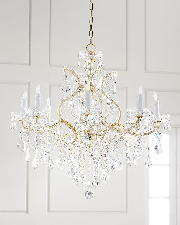 Maria theresa clear crystal draped gold chandelier aloadofball Images